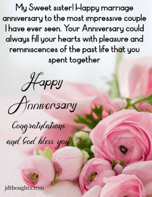Anniversary Wishes For Sister Quotes And Messages