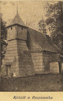 Kościół Rzepiennik 1938