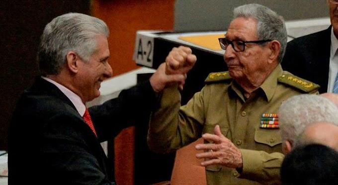 Díaz-Canel comete el error de llamarle tirano a Raúl Castro y este le golpea un ojo