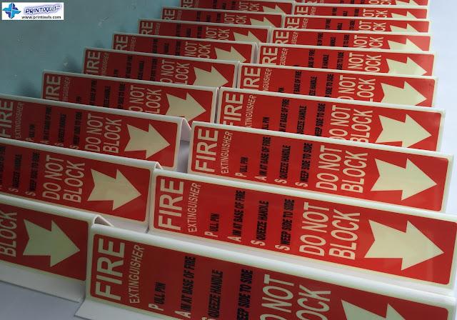 Toblerone Fire Extinguisher Signs Philippines