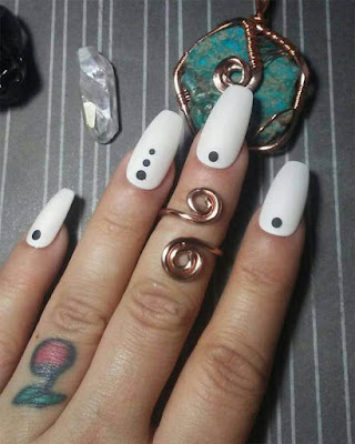 Ideas coffin nails desings white