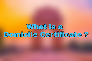 What can be used as domicile certificate?, How do I get a domicile certificate?, Who will issue domicile certificate?, Is PRC and domicile certificate same? domicile certificate karnataka, domicile certificate maharashtra, domicile certificate west bengal, domicile certificate in hindi, domicile certificate ap, domicile certificate assam, domicile certificate means in kannada, Why is a domicile certificate required?, What can we use instead of domicile certificate?, Who required domicile certificate?, Is voter ID a domicile certificate?,