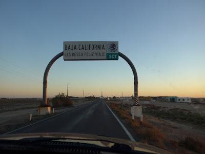 Entering Baja California Sur (BCS), Mexico
