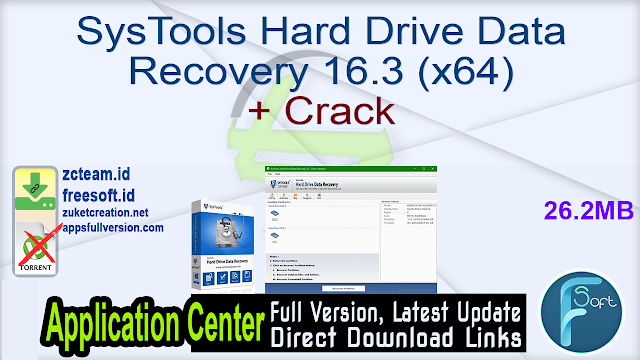 SysTools Hard Drive Data Recovery 16.3 (x64) + Crack