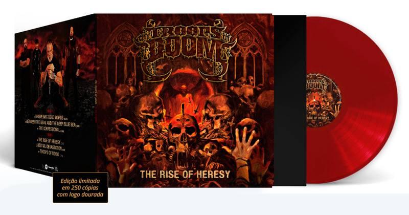 """Março de 2020, início da pandemia de coronavírus no Brasil, foi também o mês de uma grata surpresa ao metal nacional. Foi nesta mesma época, que surgiu a banda The Troops of Doom, que neste mês lançou o EP de estreia """"The Rise Of Heresy"""" em vinil 12"""" pelos selos Neves Records, Melomano Discos e All Music Matters."""