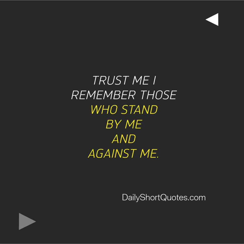Attitude Quotes on who stand with you