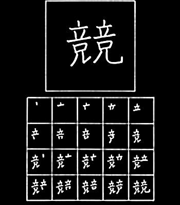 kanji bersaing