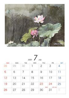 くどうさとしカレンダー7月
