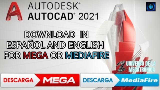 Descargar e Instalar AUTOCAD 2021 32/64 BITS ESPAÑOL/INGLES | MEGA Y MEDIAFIRE