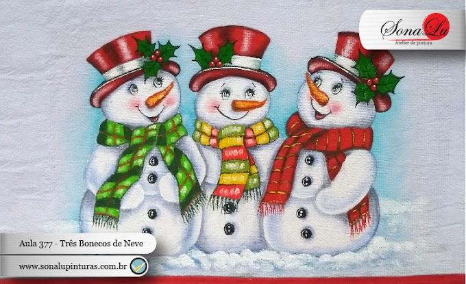 Aula 377 - Três Bonecos de Neve