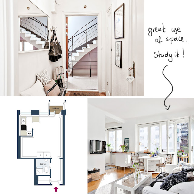 32 sq.m. small apartment floor plan • the round button blog