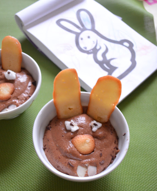 Lapin en mousse en chocolat