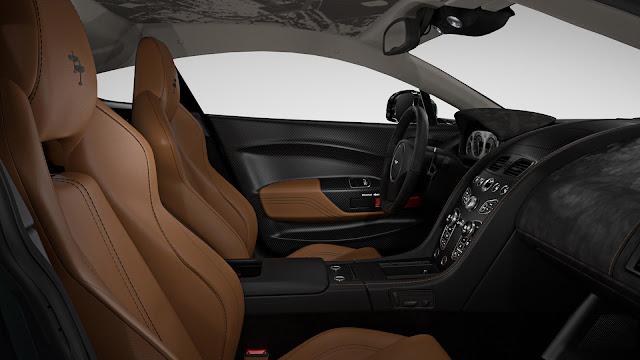 Interior del Aston Martin Vantage V12 Cambridge S Spitfire 80