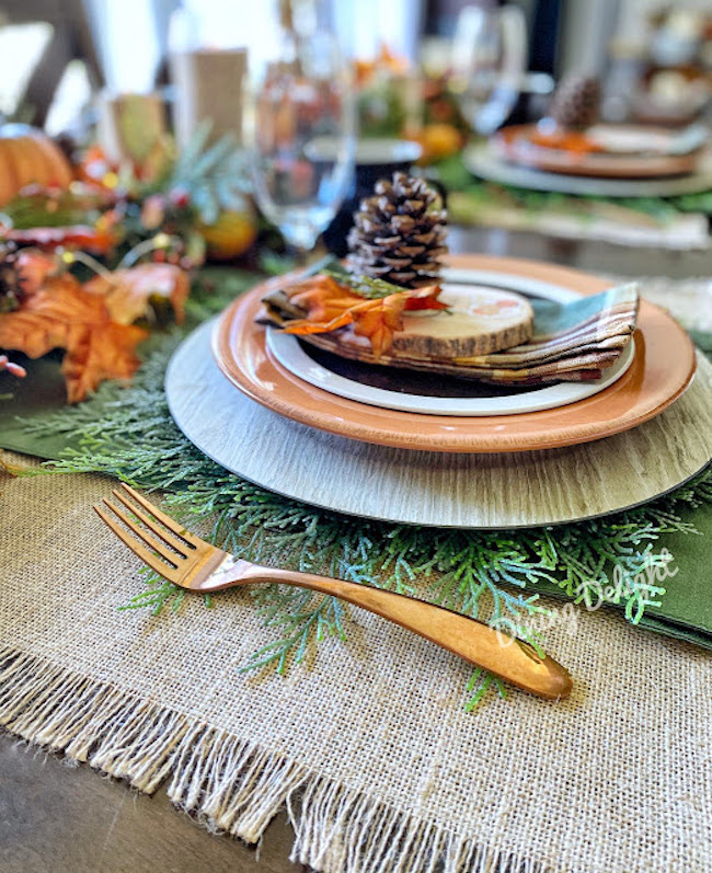 Autumn in the Mountains Fall Tablescape at Dining Delight