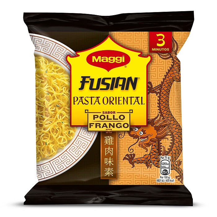 Ingredientes - Maggi Fusian Pollo