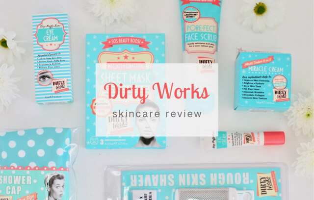 Dirty Works retro style skincare review