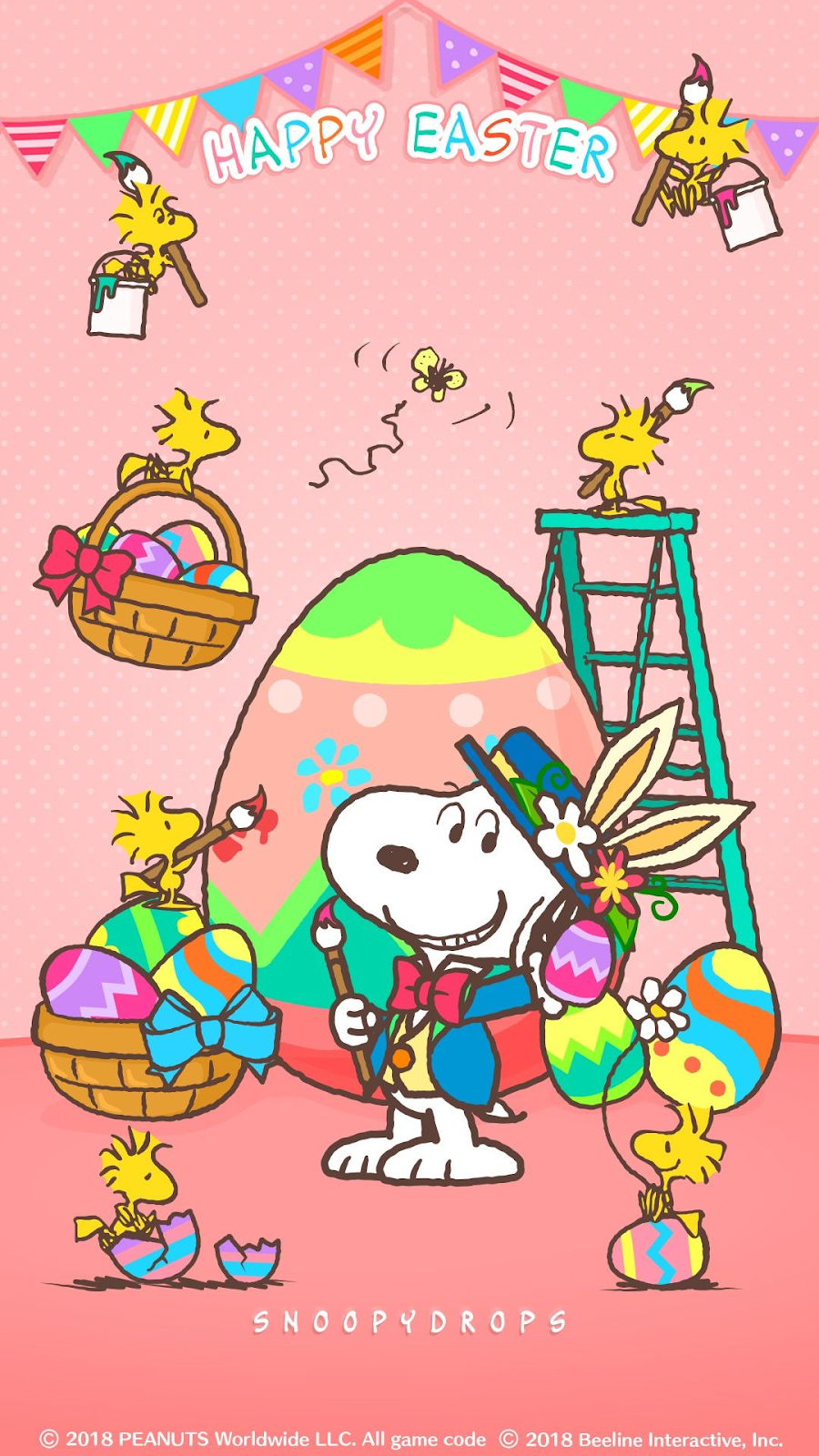 Snoopy Teller Ostern
