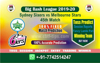 cricket prediction 100 win tips Sixer vs Star
