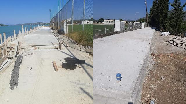 Δήμος Ερμιονίδας: Έτοιμες οι βάσεις για να τοποθετηθούν οι κερκίδες στα γήπεδα Πορτοχελίου και Ηλιοκάστρου