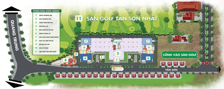 mặt bằng điển hình căn hộ golf view tower