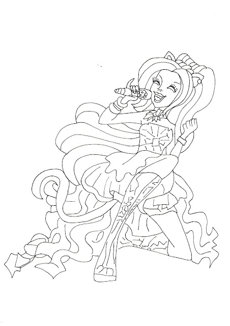 Free Printable Monster High Coloring Pages: Catty Noir