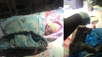 A-Day-Old Baby Dumped At A Refuse Site, Under Heavy Rainfall In Minna (Photos)