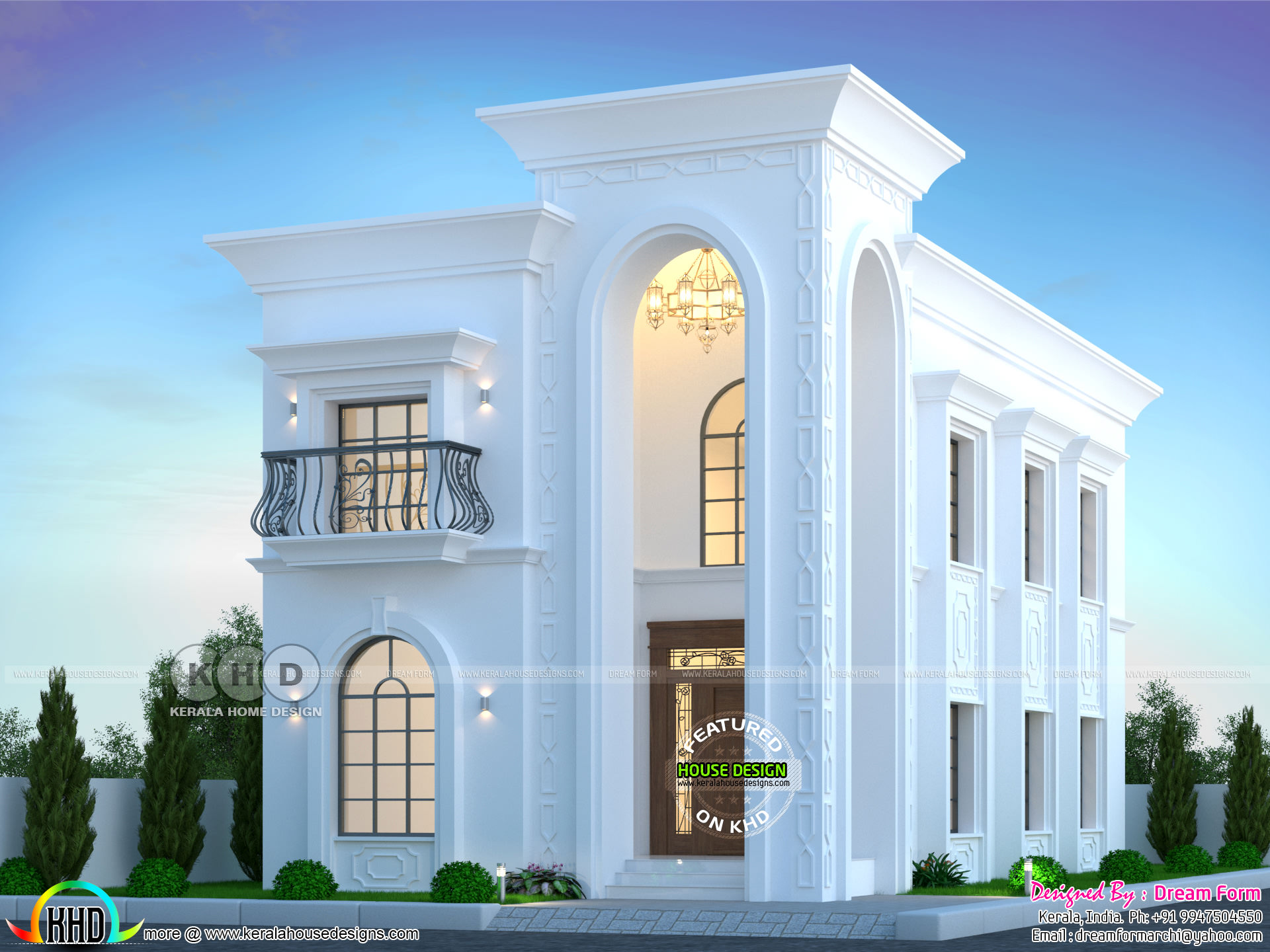 4 Bedrooms 2400 Sq Ft Arabic Villa Model Home Design Kerala Home Design And Floor Plans 8000 Houses