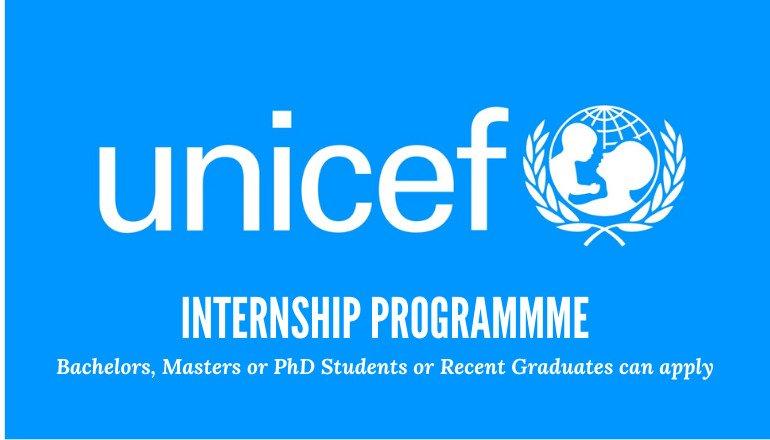 Programme de stages de l'UNICEF entièrement financé  2021