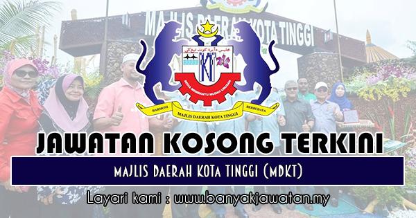 Jawatan Kosong 2018 di Majlis Daerah Kota Tinggi (MDKT)