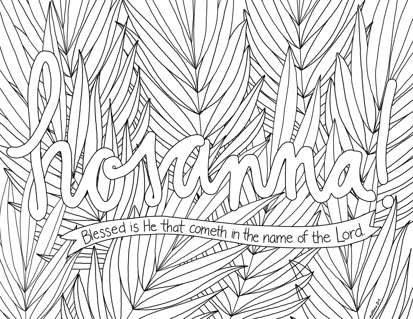 just what i {squeeze} in Hosanna! Coloring Page 8