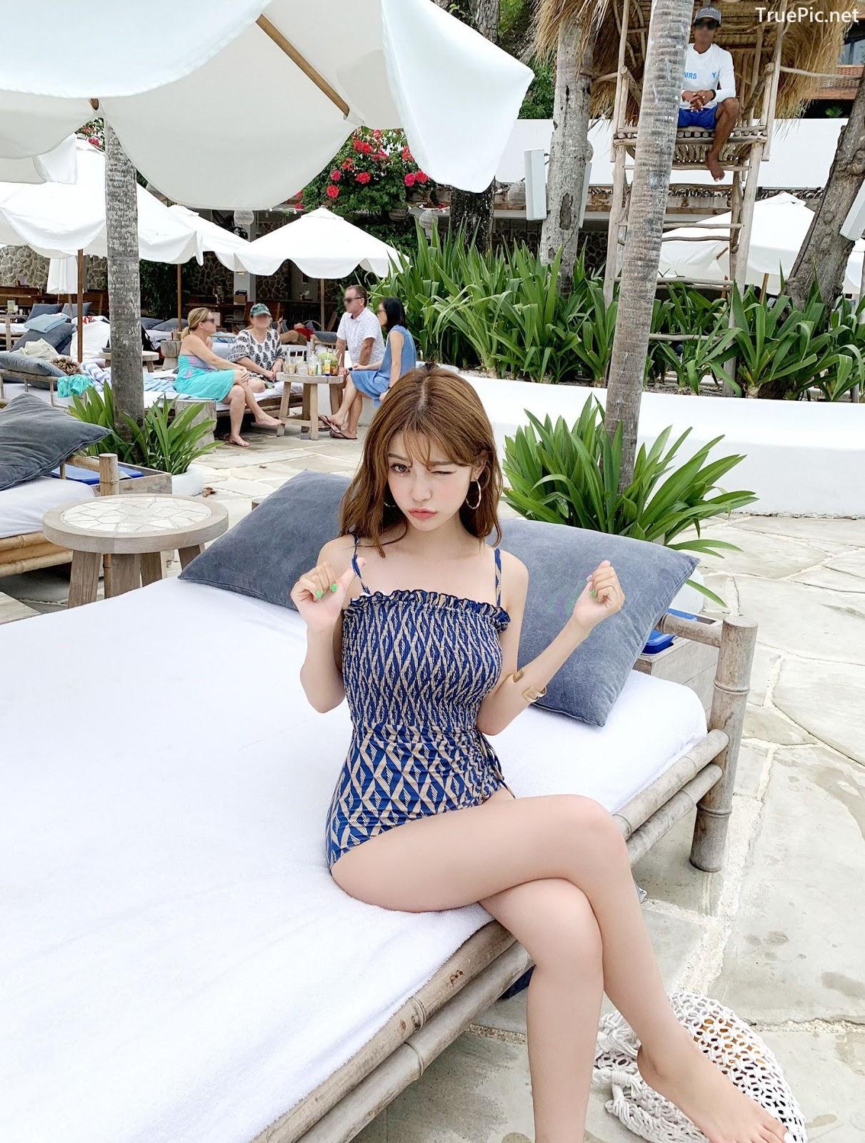 Image Korean Fashion Model - Cha Yoo Jin - Diamond Smoke Monokini - TruePic.net - Picture-2