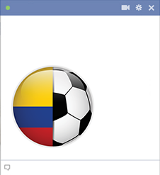 Colombia football emoticon