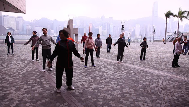 Early morning Tai Chi classes in Kowloon