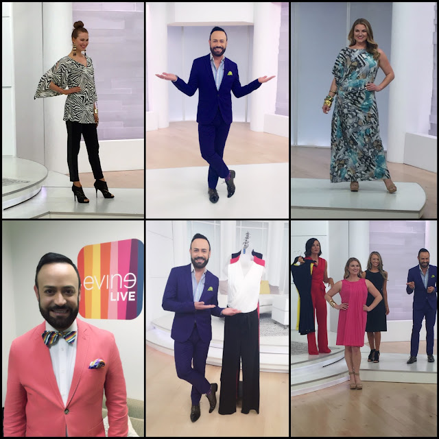 NV NICK VERREOS.....Photo Recap of the April Show Presentation on the EVINE Live TV Shopping Network!