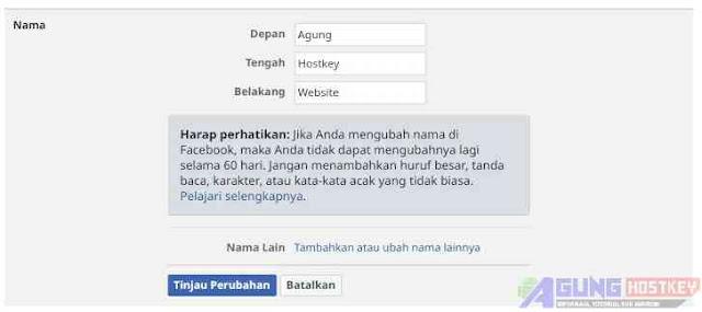 membuat akun facebook koran nama panjang