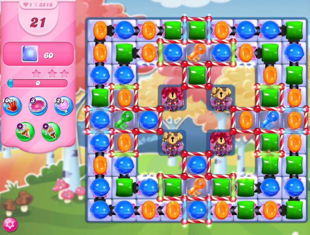 Candy Crush Saga level 3810