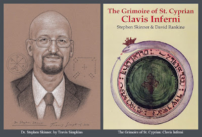 Stephen Skinner. The Grimoire of St Cyprian. Clavis Inferni. Ceremonial Magick. by Travis Simpkins