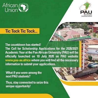 Pan African University Scholarship for Postgraduate Students 2020/2021