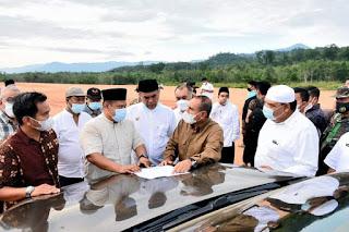 Gubernur Sumut Tinjau Pembangunan Bandara Bukit Malintang Madina, Target Rampung 2023