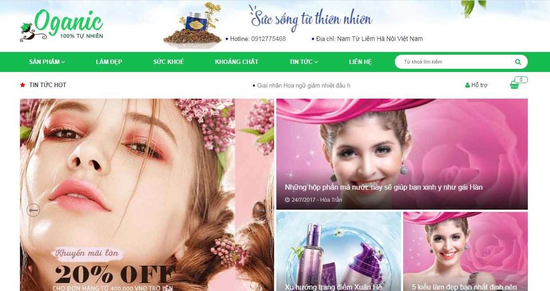 Template blogspot bán mỹ phẩm