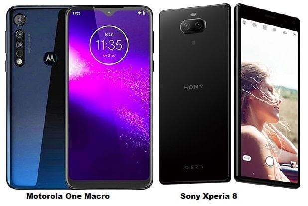 Motorola One Macro Vs Sony Xperia 8 Specs Comparison