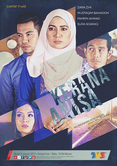 Sinopsis Drama Kerana Anisa TV3 Lakonan Zara Zya