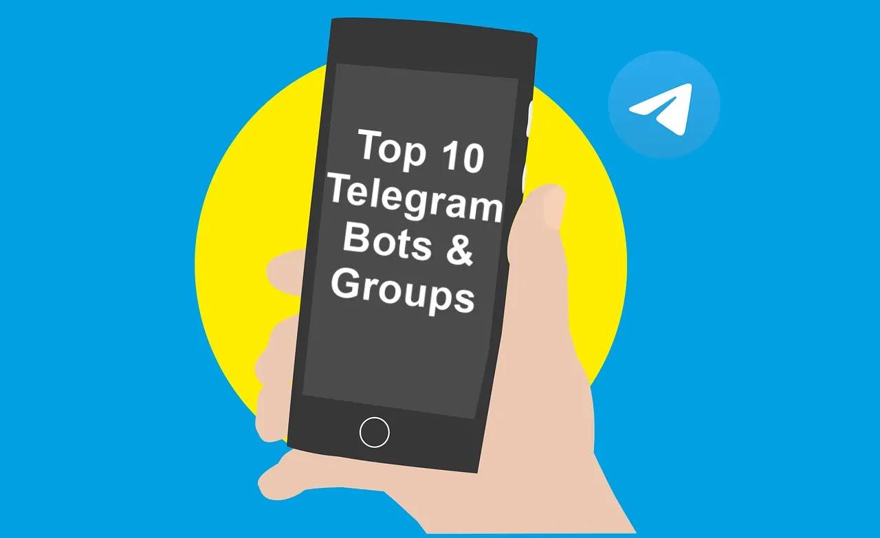 Top-10-Telegram-Bots-&-Groups