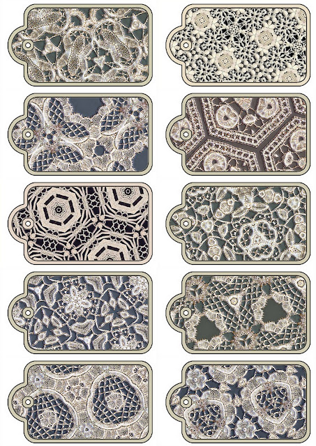 Free Printable Lace Labels.