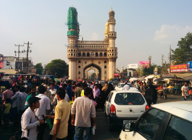 Charminar area of Hyderabad - Mecca for street food lovers