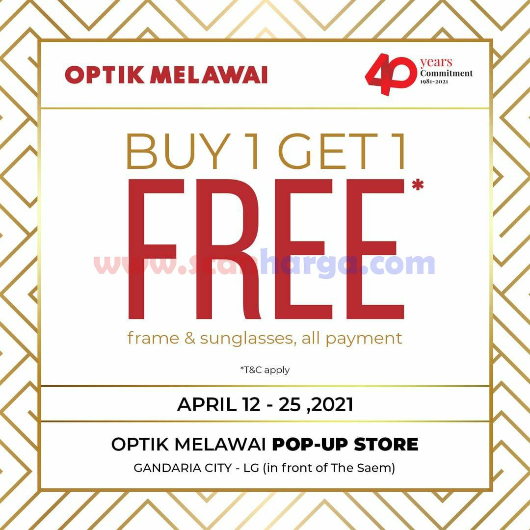 Optik Melawai POP UP STORE Promo Beli 1 Gratis 1