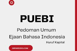 Penggunaan Huruf Kapital Sesuai dengan PUEBI (Pedoman Umum Ejaan Bahasa Indonesia)