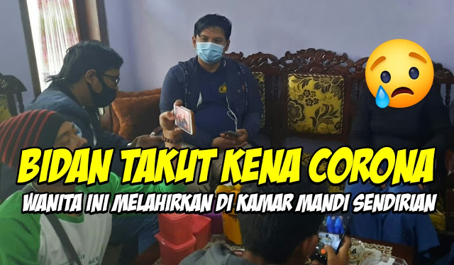 Fitria Rahmatika Terpaksa Melahirkan di Kamar Mandi Karena Bidan Takut Kena Corona