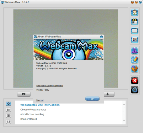 Screenshot WebcamMax 8.0.7.8 Full Version