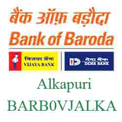 Vijaya Baroda Bank Alkapuri Branch New IFSC, MICR